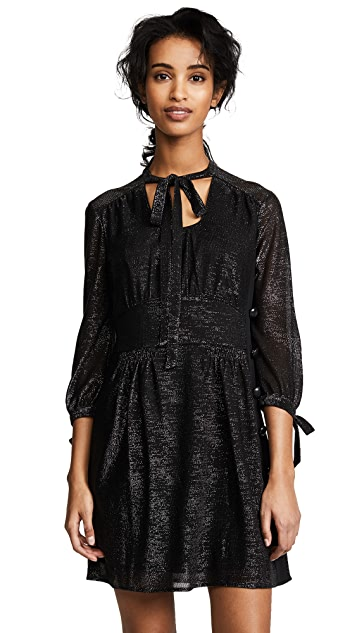 Coach 1941 Tie Collar Mini Dress