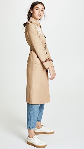 Coach 1941 Lace Embroidered Trench Coat