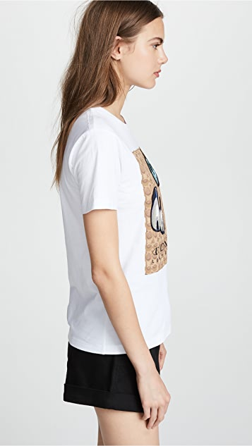 Coach 1941 Signature T-shirt with Patches