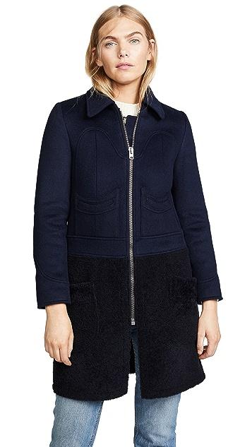 Coach 1941 Shearling Wool Coat