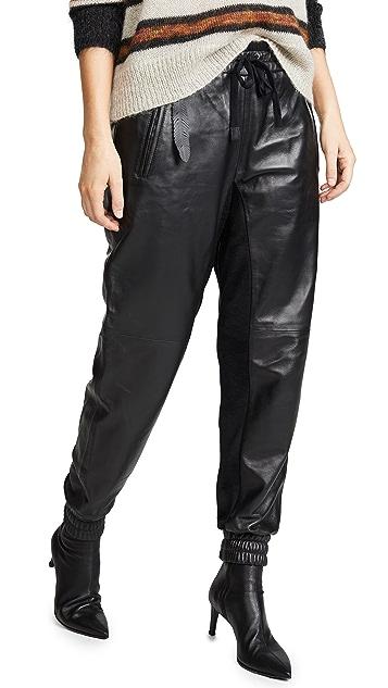 Coach 1941 Кожаные тренировочные штаны