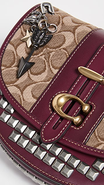 Coach 1941 Signature Jacquard Saddle Bag