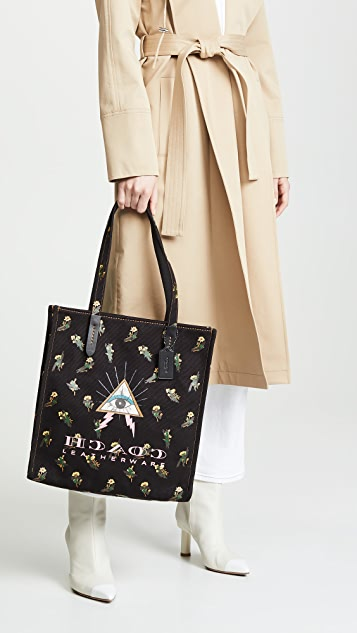 Coach 1941 Pyramid Eyes Canvas Tote