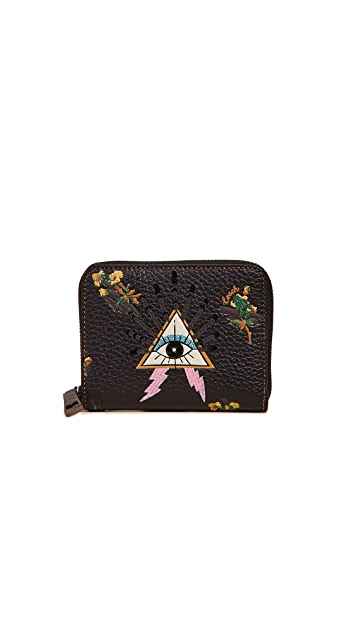 Coach 1941 Small Zip Around Wallet With Pyramid Eye
