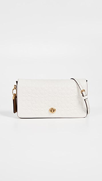 Coach 1941 Signature Leather Dinky Crossbody with Leather Strap