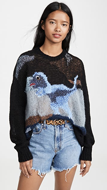 Coach 1941 Distressed Rexy Oversize Pullover