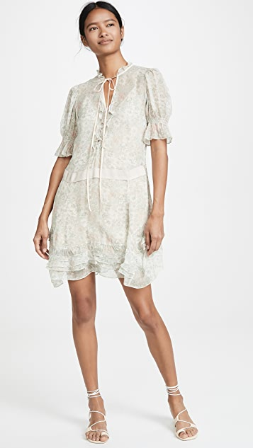 Coach 1941 Tiered Mini Dress