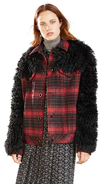 Coach 1941 Wool Shearling Trucker Jacket