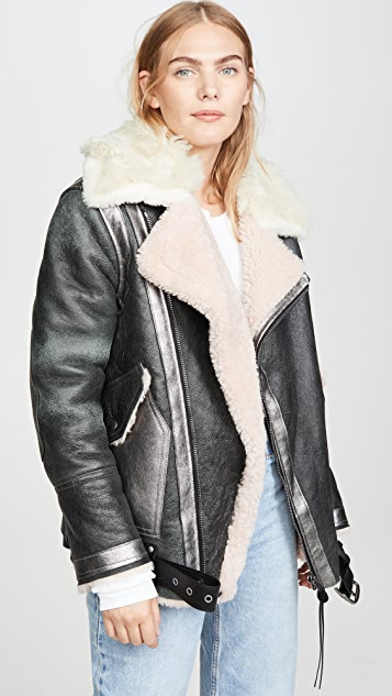 Coach 1941 Oversized Shearling Aviator Jacket