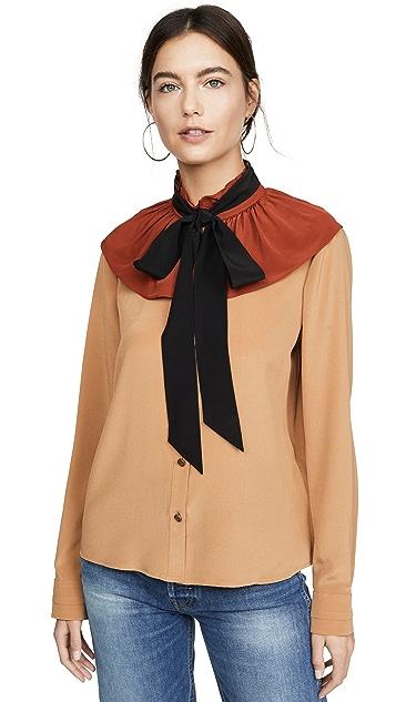 Coach 1941 Gathered Collar Blouse