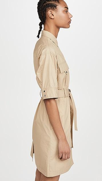 Coach 1941 Short Sleeve Safari Shirtdress