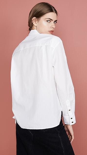Coach 1941 Poplin Pleated Bib Shirt
