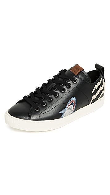 Coach New York Sharkie Patched C121 Low Top Sneakers