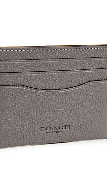 Coach New York Pebbled Leather Card Case