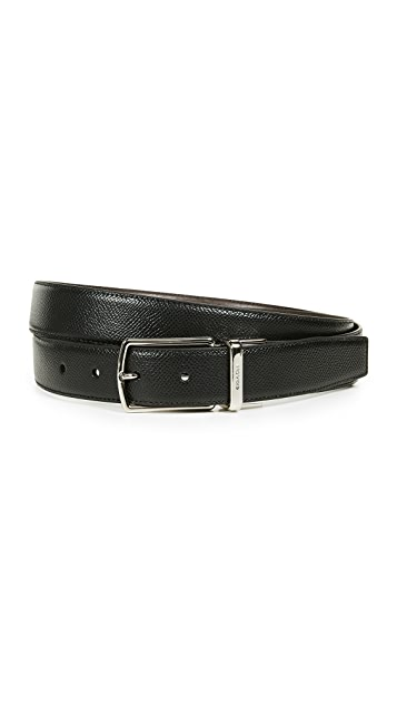Coach New York Boxed Plaque Reversible Dress Belt