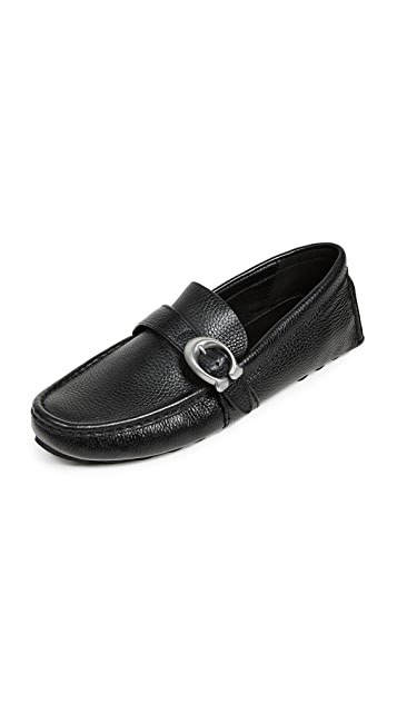 Coach New York Crosby C Buckle Driver Shoes