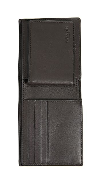 Coach New York Signature C Compact ID Wallet