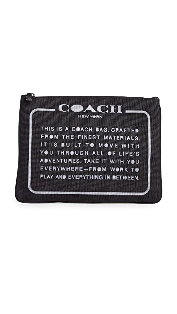 Coach New York Large Pouch