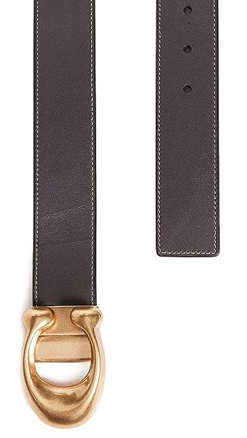 Coach New York Sculpted C Reversible Belt