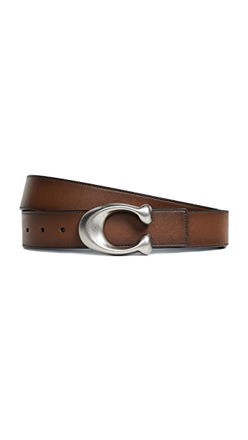 Coach New York Sculpted C Reversible Belt