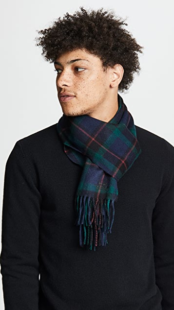 Coach New York Wool Cashmere Blend Shirt Plaid Scarf