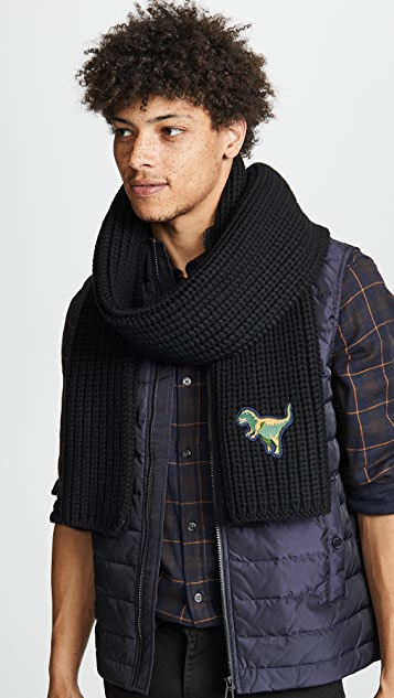 Coach New York Wool Knit Rexy Scarf