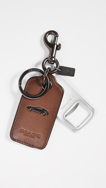 Coach New York Bottle Opener Key Chain