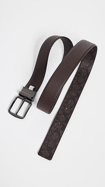 Coach New York Wide Harness Signature Belt