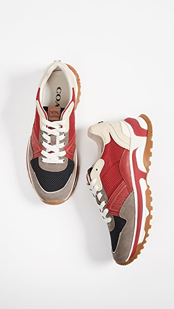 Coach New York C143 Active Mixed Material Sneakers
