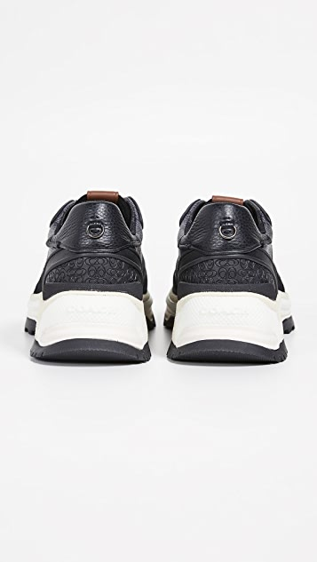 Coach New York Sig C Coated Canvas Sneakers