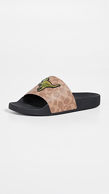 Coach New York Rexy Pool Slide Sandals