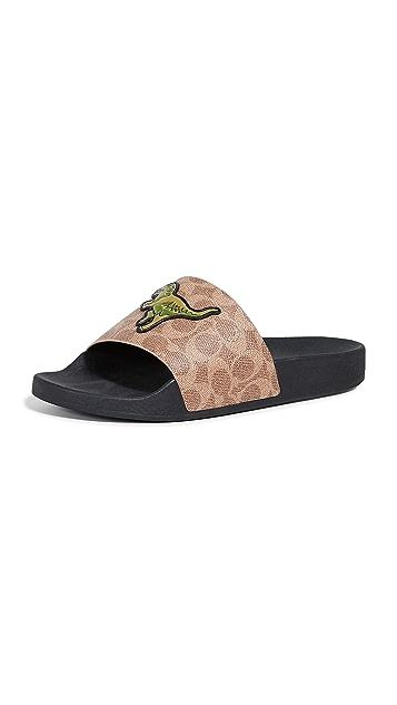 Coach New York Rexy Pool Slide Sandals