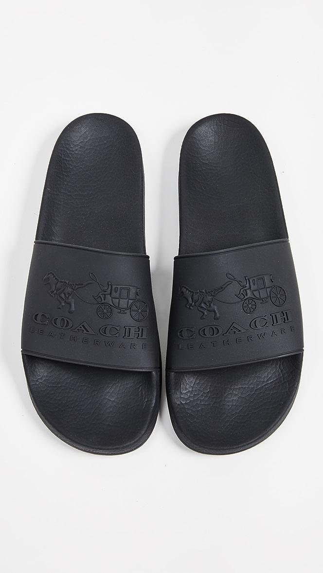 Coach 3D Logo Slide Sandals | EASTDANE