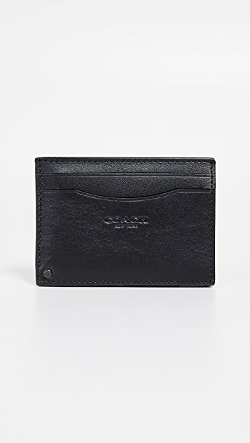 Coach New York Swivel Card Case