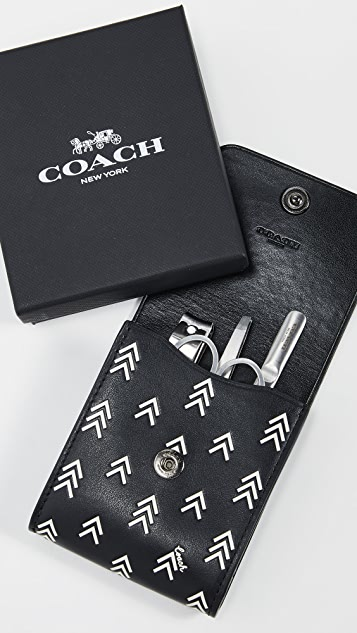 Coach New York Boxed Grooming Kit in Printed Leather