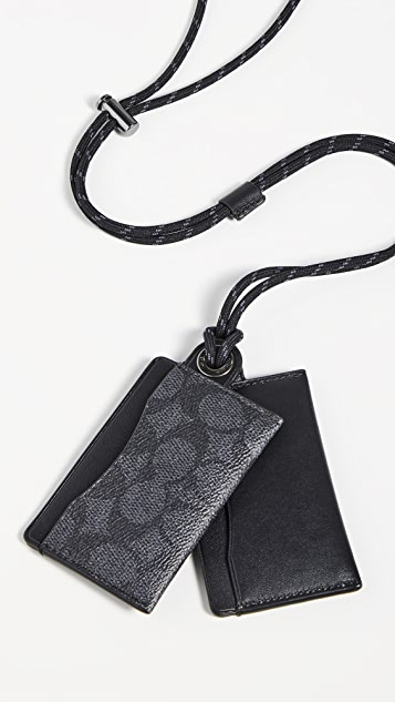 Coach New York Card Case Lanyard ID