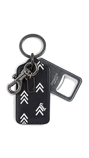 Coach New York Boxed Bottle Opener in Printed Leather