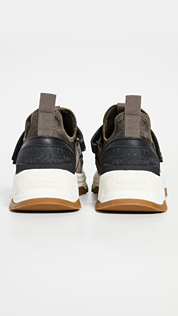 Coach New York C143 Signature Two Straps Sneakers