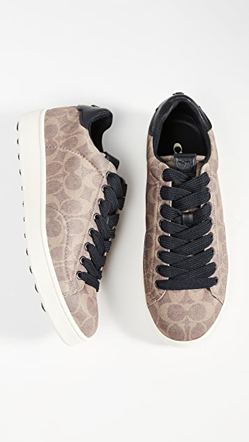 Coach New York Neoprene Signature C101 Low Top Sneakers