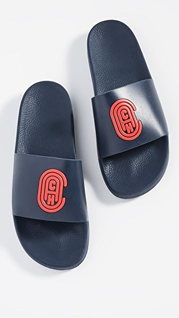 Coach New York Coach Patch Slides