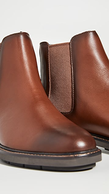 Coach New York Burnished Leather Chelsea Boots