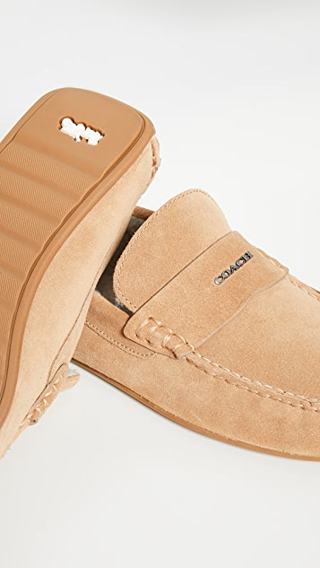 Coach New York Suede Slippers