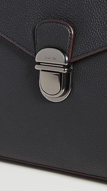 Coach New York Metropolitan Soft Push Lock Briefcase