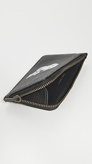 Coach New York Cozy L and L Zip Card Case