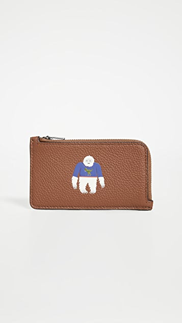 Coach New York Cozy Land L Zip Card Case