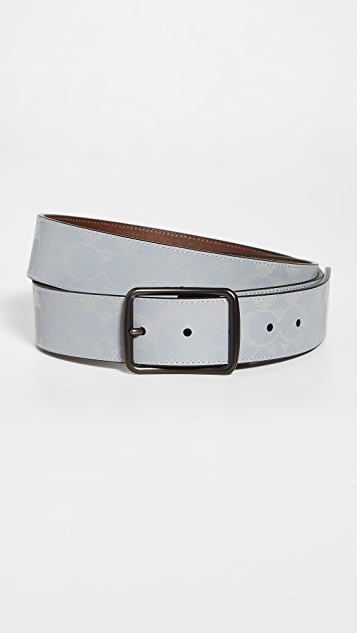 Coach New York Harness Reflective Signature Belt 38mm
