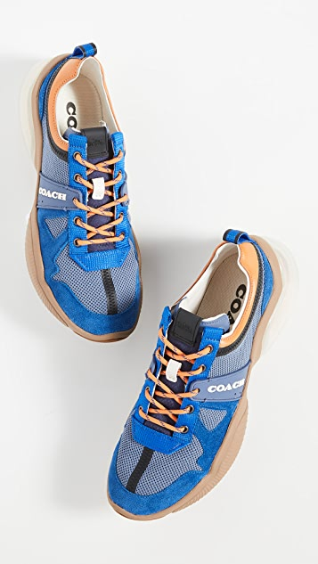 Coach New York Knit Tech Runner Sneakers