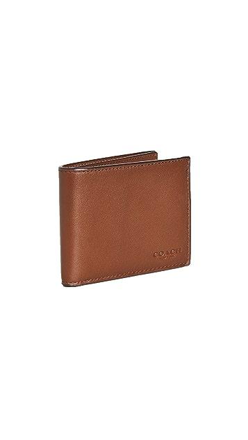 Coach New York Sport Calf Slim Billfold ID Wallet