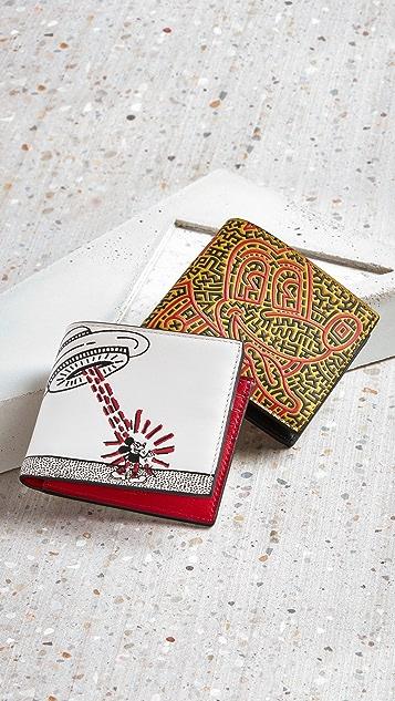 Coach New York X Disney Keith Haring Double Billfold Wallet