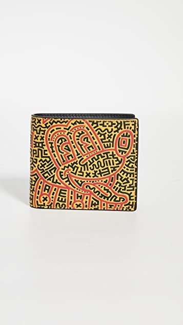 Coach New York X Disney Keith Haring Double Billfold